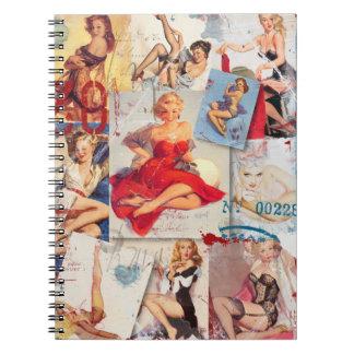 The Kitsch Bitsch : Love Pin-Up Collage 2 Notebooks