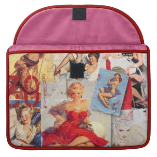 The Kitsch Bitsch © : Love Pin-Up Collage Sleeves For MacBook Pro