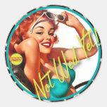 The Kitsch Bitsch : Not Wed Yet! Round Sticker