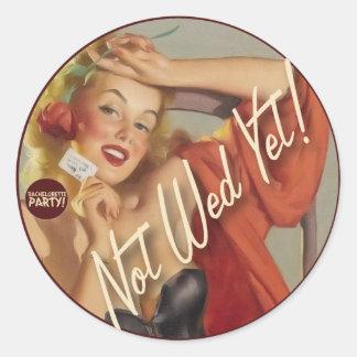 The Kitsch Bitsch : Not Wed Yet! Round Stickers