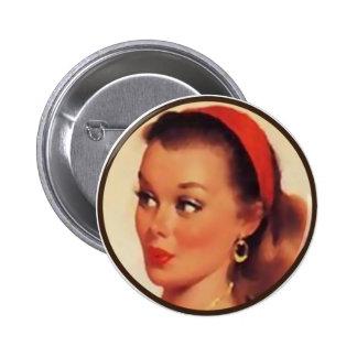 The Kitsch BItsch : Pin-Up Portraits 6 Cm Round Badge