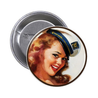 The Kitsch BItsch : Pin-Up Portraits 6 Cm Round Badge
