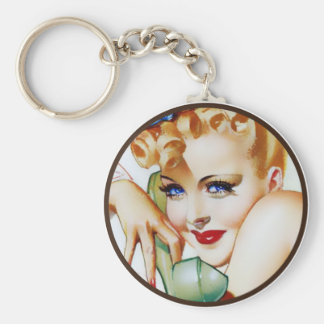 The Kitsch BItsch : Pin-Up Portraits Basic Round Button Key Ring