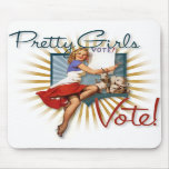 The Kitsch Bitsch:Pretty Girls Vote!1950's Pin-Up Mouse Mats
