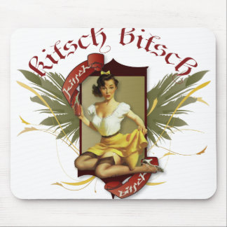 The Kitsch Bitsch : Soda Girl Retro Tattoo Pin-Up Mouse Pad