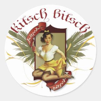 The Kitsch Bitsch : Soda Girl Retro Tattoo Pin-Up Classic Round Sticker