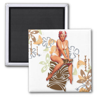 The Kitsch Bitsch : The Tiki Goddess Square Magnet