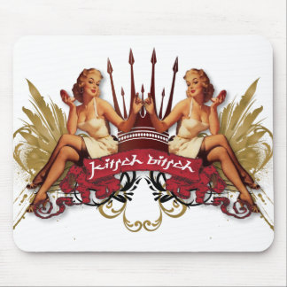 The Kitsch Bitsch : Twin Tattoo Pin-Up Mouse Pad