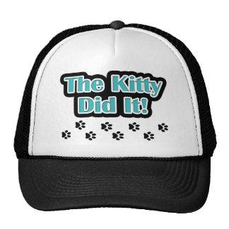 The Kitty Did It! Trucker Hats