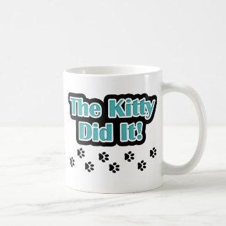 The Kitty Did It! Coffee Mug