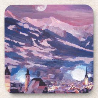 The Kitzbuehel Moon Drink Coaster
