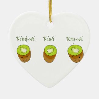 The kiwi trio ceramic ornament
