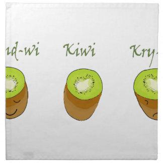 The kiwi trio napkin