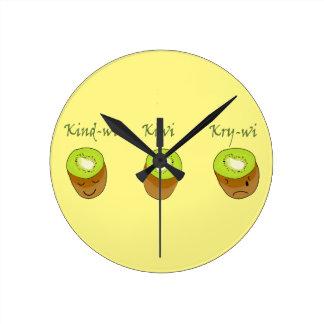 The kiwi trio round clock