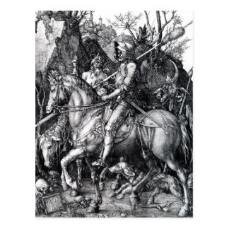 The Knight, Death and the Devil by Albrecht Durer Postcard