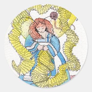 The Knitter Classic Round Sticker