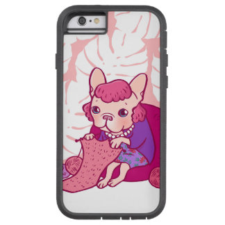 The knitting Frenchie and her scarf Tough Xtreme iPhone 6 Case
