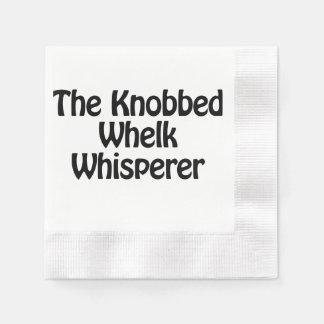 the knobbed whelk whisperer disposable napkin