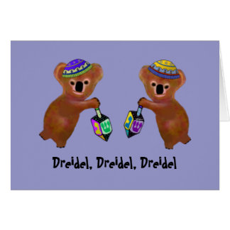 The Koala Dreidel Game Cards