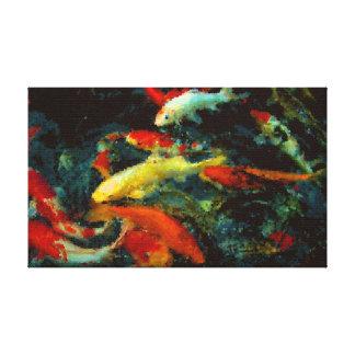 Koi fish wrapped canvas prints for Koi prints canvas