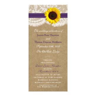 The Kraft, Lace & Sunflower Collection - Purple Custom Rack Card