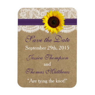 The Kraft, Lace & Sunflower Collection - Purple Magnet