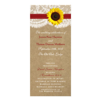 The Kraft, Lace & Sunflower Collection - Red Rack Card Design