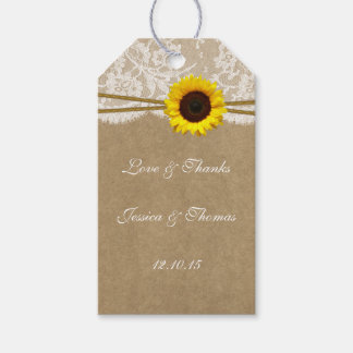 The Kraft, Lace & Sunflower Collection Tags