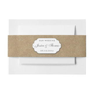 The Kraft & Lace Wedding Collection Invitation Belly Band