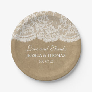 The Kraft & Lace Wedding Collection Paper Plate