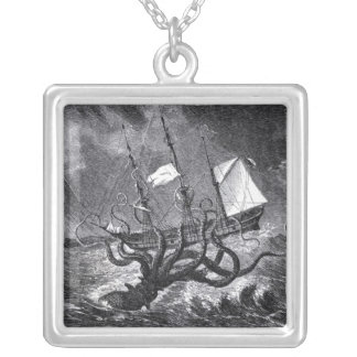 The Kraken Silver Plated Necklace