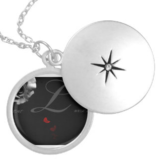 "The ""L""Word Round Locket Necklace"