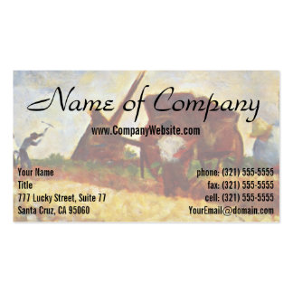 The Laborers by Georges Seurat Pack Of Standard Business Cards