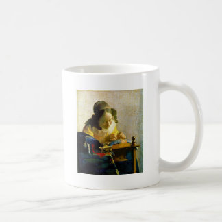 The Lacemaker, Jan Johannes Vermeer Coffee Mug