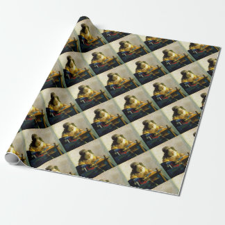 The Lacemaker, Jan Johannes Vermeer Wrapping Paper