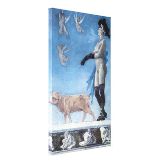 The Lady and Pig (Pornokrates) Canvas Prints