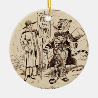 The Lady and the Tiger by Clifford K. Berryman Ceramic Ornament