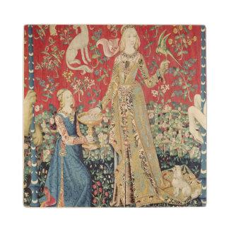 The Lady and the Unicorn: 'Taste' Wood Coaster
