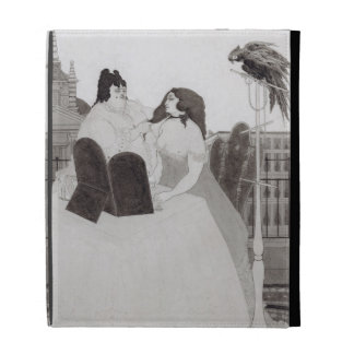 The Lady at the Dressing Table (ink and wash) iPad Folio Cases
