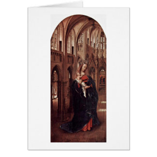 The Lady In The Church By Jan Van Eyck Card