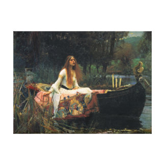 The Lady Of Shalott - Oil Canvas Reproduction Canvas Print