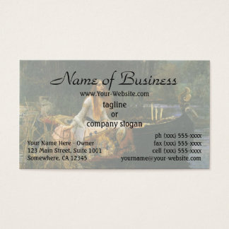 The Lady of Shalott (On Boat) by JW Waterhouse Business Card