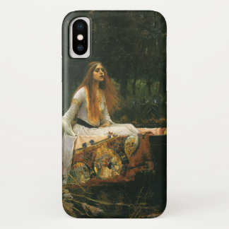 The Lady of Shalott On Boat by JW Waterhouse iPhone X Case