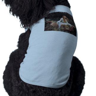 The lady of shalott painting sleeveless dog shirt