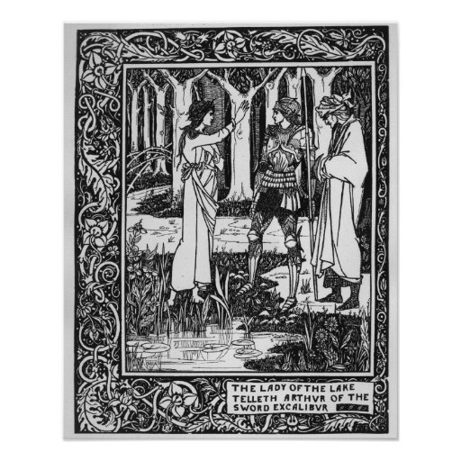 The Lady of the Lake telleth Arthur Print