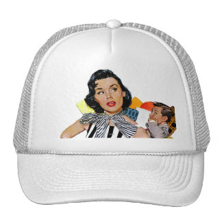 The Lady Was Insulted Mesh Hats