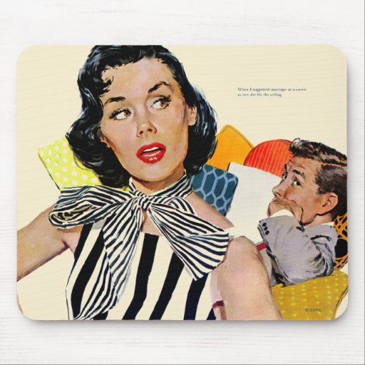 The Lady Was Insulted Mousepads