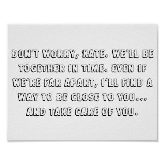 """The lake house quote 11"""" x 8.5"""" poster"""