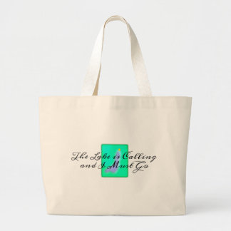 The Lake is Calling and I Must Go Large Tote Bag