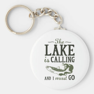The Lake Is Calling Basic Round Button Key Ring